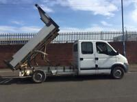 Vauxhall movano king cab tipper