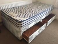 Single divan bed with drawers-£25 delivered