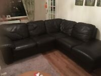 GONE Brown leather corner sofa - FREE