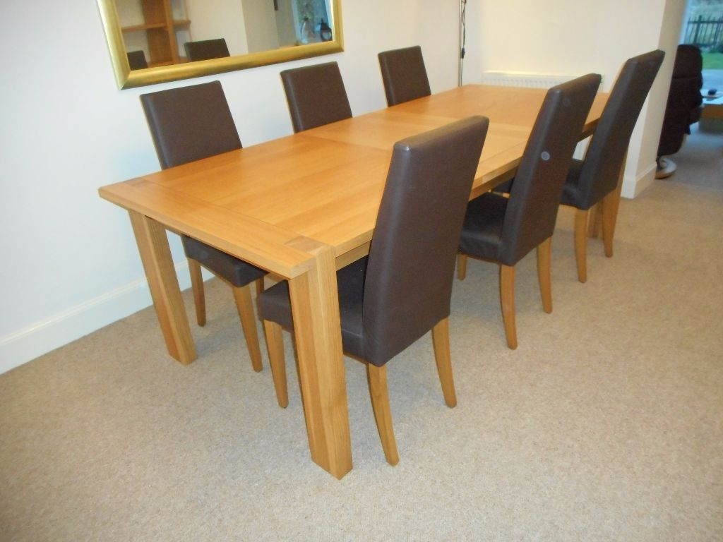 Marks And Spencer Dining Room Furniture Mamps Sonoma Oak Extending Dining Table Amp 6 Chairs In Glenrothes