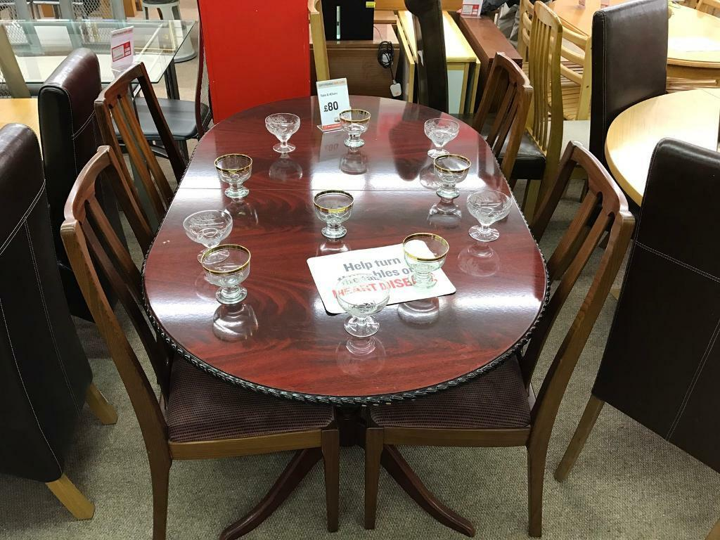 Dark Wood Dining Table With 4 Chairs Sale