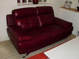 Genoa Leather 2 Seater Sofa