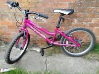 Pink Ridgeback bike 7-9yo
