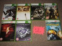 XBOX 360 GAMES AND PLAYSTATION 3 GAMES