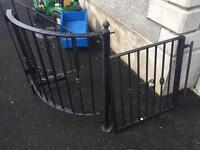 Solid steel stair gate (custom made)