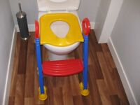 Baby Kids Child Toddler Potty Training Toilet Ladder Seat with Step