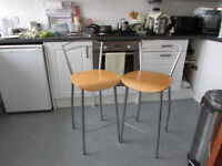 pair of kitchen come bar stools