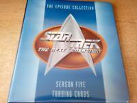 STAR TREK THE NEXT GENERATION TRADING CARDS IN ORIGINAL BINDER SEASON 5