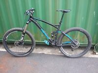 Merida One-Forty 7.700 mountain bike matt black as new rarely used.