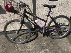 Raleigh ladies bike with gears and basket