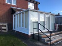 CONSERVATORY WITH FRENCH DOORS IN GREAT CONDITION