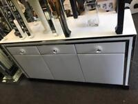 White & Mirrored Large Sideboard