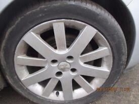 Peugeot 207 Sport Set of 4 Hockenhiem Wheels and Tyres 2007