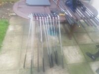 Golf club drivers, irons 1-9, golf bag and trolley