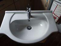 Bathroom Vanity Unit Basin with Tap