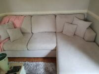 DFS Freya 4 seater sofa and footstool BN