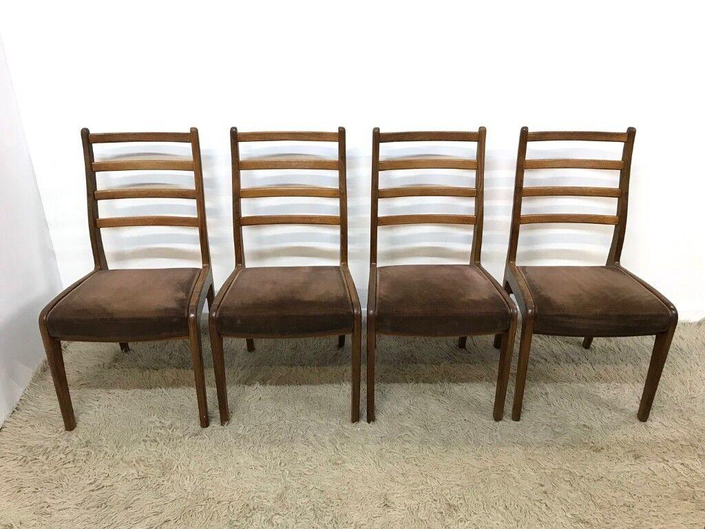 60s 70s original Vintage Retro Mid Century G Plan teak dining chairs ...