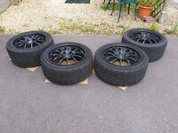 "Lightweight wheels 949 Racing 5x114.3 17x9"" et63 with Yokohama AD08 - Honda s2000 - Toyota JDM etc"