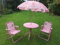 Girly pink tables and chairs set