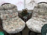 2 swivel conservatory chairs