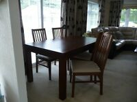 DINING TABLE & 4 CHAIRS +SIDEBOARD