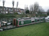 Narrow Boat for Sale, 40 foot with cruiser stern, 1973 - good condition
