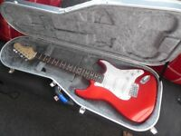 Apple Red Aria Electric Guitar (WITH £100 CASE SELLING FOR £30 - OPTIONAL)