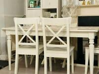 Dining table and 3 chairs for sale