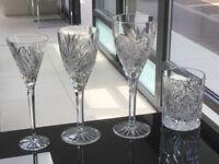 Lead crystal cut glasses