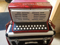 DELICIA POPULAR 2 ROW BUTTON ACCORDION/MELODEON B/C TUNING