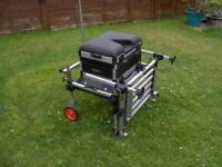 Team Milo Pole Float Feeder Match Fishing Seatbox/Seat Box + Footplate + Side Tray + Wheel Kit etc..