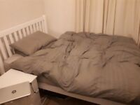 Super comfy double bed and mattress for sale