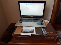 ASUS Ultraslim V550CA, intel Core i7, Touchscreen, 1TB hard disk, 6 GB RAM, Full Boxed, Excellent