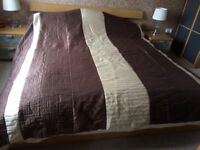 King size satin bedspread