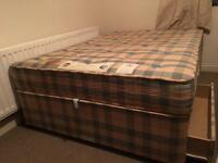 Good quality double bed with drawers/ FREE DELIVERY
