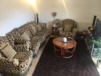 BEAUTIFUL LARGE SOFA AND ARMCHAIRS