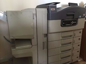 Oki C9650 Colour A3 Laser Printer with 5 Trays and Booklet Finisher.