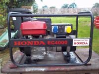 4.1kw GENUINE HONDA 4 STROKE PETROL GENERATOR WITH LOW OIL AUTOMATIC SHUTDOWN