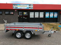 Brand NEW Twin Axle Braked Car Trailer 8,7FT x 5FT 2000KG DROP SIDES
