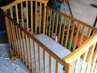 Baby's Cot and Matress