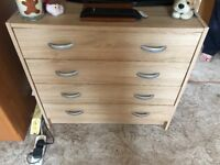 2x bedside tables and chest of drawers