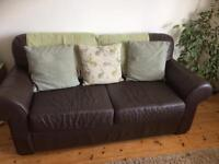 Comfy 2-3 Seater Leather Sofa Bed