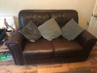 2 leather sofas FREE