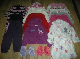 Bundle (15 items) of girls clothes (inc M&S, Disney and M&Co items) for ages 4-5 years