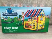 Kids supermarket pop up play tent
