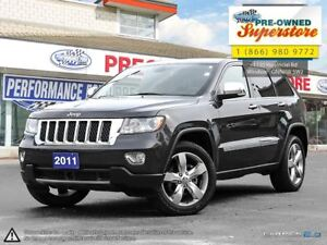 2011 Jeep Grand Cherokee Overland***NAV, 4x4, tan leather***