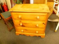 Rustic Solid Wood Chest of Drawers - Charity