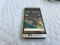 HTC M9 silver- fantastic condition - 32GB- unlcoked