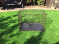 Extra large metal dog crate
