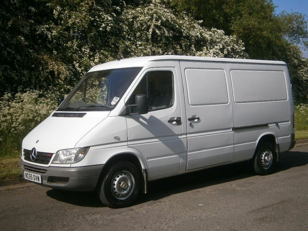 2005 55 mercedes benz sprinter 311 mwb low roof company owned from new ready for work no vat. Black Bedroom Furniture Sets. Home Design Ideas